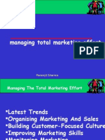 Managing Total Marketing Effort