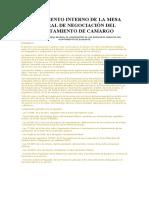REGLAMENTO INTERNO DE LA MESA GENERAL DE NEGOCIACIÓN DEL AYUNTAMIENTO DE TORRELA VEGA