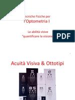 8 - Le abilità visive quantificare la visione