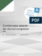 Manual Combina Frigorifica Bosch Premium