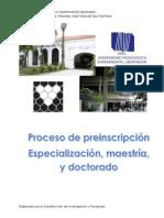 Protocolo de postgrado