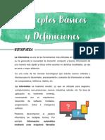 CONCEPTOS BASICOS Y DEFINICIONES