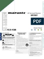 Marantz AV Surround Receiver SR7007 User Manual