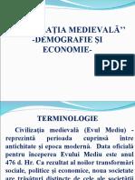 Civilizaţia-Medievală-Demografie Și Economie-Cls a IX A