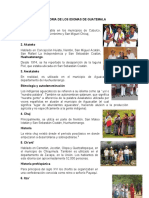 HISTORIA DE LOS IDIOMAS DE GUATEMALA 2021