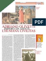 """Olivetti e Dante su """"Il Secolo d'Italia"""""""