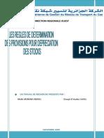 LES REGLES DE DETERMINATION DES PROVISIONS POUR DEPRECIATION   DES STOCKS