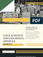 Estudo Bíblico Morte