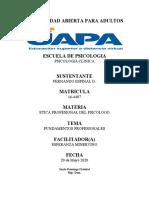 ETICA DEL PSICOLOGO T-2 FED 16-4407