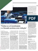 Itamar diz que Governo violou Constituição