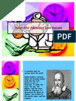 Scientific Attitudes and Values