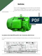 Placa de identificación de motores eléctricos