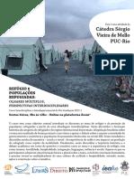 2 - REFÚGIO - Flyer CSVM - Disciplina 2021.1