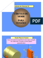 Circulo de Mohr Tensoes