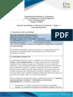 Guía de actividades y rúbrica de evaluación - Unidad 1 - Etapa 1 - Conceptualización