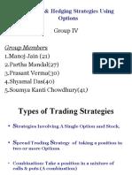 Trading & Hedging Startegies involving Options