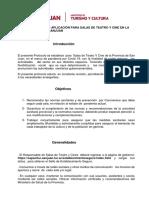PROTOCOLO  DE   SALAS DE TEATRO Y SALAS DE CINE