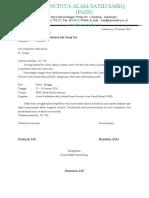 Surat Edar Diklatsar Pass