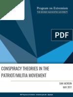 Les théories du complot dans les mouvements patriotes ou miliciens