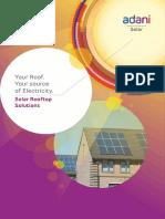 Adani Solar Rooftop Flyer