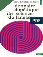 Ducrot Oswald Todoov Tzvetan Dictionnaire Encyclopédique Des Sciences Du Langage 1972