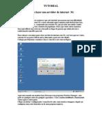 TUTORIAL DE COMPARTILHAMENTO 3G