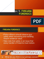 Lesson 9. Firearm Forensics