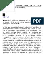 El Grimorio - FRECUENCIA de la MÚSICA a 432 Hz (19-08-19) (3P)