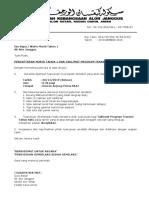 Surat Panggilan Taklimat Program Transisi Tahun 1 2020