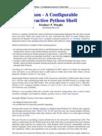 IPython - An Interactive Python Shell