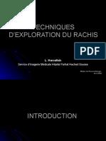 Techniques d'Exploration Du Rachis