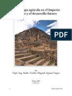 Tecnología Agrícola en El Imperio Incaico by Miguel Apaza Tapia
