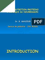 La Malnutrition Proteino Calorique Du Nourrisson