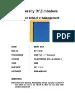 Negotiation Skills Assigment 2 - TACTICS(2)