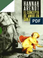 Hannah Arendt - El Concepto de Amor en San Agustín