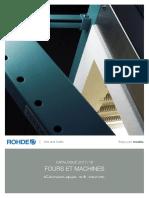 1 ROHDE Catalogue Fours Et Machines