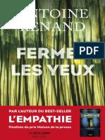 Antoine Renand - Fermer les yeux - Antoine Renand