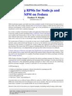 Node.js and NPM on Fedora 14