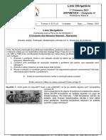 Lista Obrigatoria1- Matemática referente à Prova do dia 03 MARÇO 2021 - 6º ano - prof. Mara