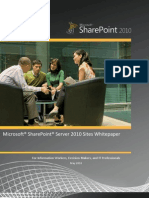 SharePoint 2010 Sites Business Value Whitepaper