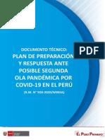 Plan de preparación y respuesta ante posible segunda ola pandémica MINSA PERU