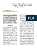 Design and Analysis of Direct Torque Control Based Brush Less DC Drives With Reduced Torque Ripple
