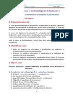 BLA Syllabus de Cours Methodologie de La Rec