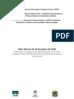 Nota Tecnica - Arquitetura Penal MNPCT