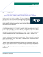 Fannie Mae Reports Fourth-Quarter and Full-Year 2010 Results