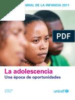 Estado mundial de la infancia de 2011. La adolescencia