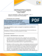 Guia de actividades y Rúbrica de evaluación - Unidad 1 - Fase 2- Historia y Concepto de la Personalidad