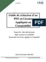 Guide pour la rédaction d'un rapport de stage comptab