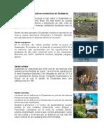 Actividades Productivas Económicas en Guatemala