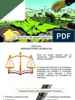 LEY ORGÁNICA DE ORDENAMIENTO TERRITORIAL